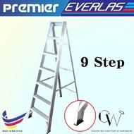 [CW] [READY STOCK] 9 STEPS PREMIER EVERLAST FOLDABLE SINGLE SIDED LADDER / Tangga Lipat Single Side / 楼梯