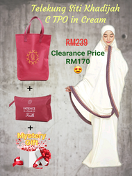 Telekung Siti Khadijah C TPO in Cream (Original)
