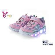 Skechers HEART LIGHTS 小童 寶寶運動鞋 心型LED閃燈 電燈鞋 慢跑鞋 S8254#粉紅◆OSOME奧森鞋業