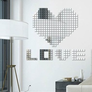 Diy Creative Home Plastic Mirror Stickers Acrylic Mosaic Crystal Mirror Wall Stickers