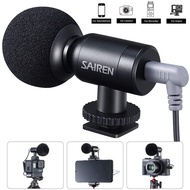 【Ready Stock】Sairen Nano Interview Microphone Vlog Mini Mic Voice Recording Studio Mic for iPhone Android Phone DSLR GoPro 8/7/6/5/4 Insta360 Vlogging Vlogger