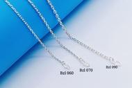 "💥READY STOCK💥 (Necklacet S925 Sterling Silver) 銀項鏈 (Rantai Leher Perak) ""Anchor Chain Plain""萬字鏈(Rantai Sauh)"