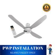 "Panasonic EcoNavi 4 Blades Ceiling Fan - Platinum Silver (56"") F-M14HW"