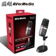 【搭B.Friend CH1 全罩式耳麥(黑)】AVerMedia圓剛 AM310 黑鳩 高音質USB麥克風 組合包