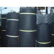 黑色塑膠圍籬網.園藝網,花圃,花店掛網『塑膠,尼龍材質1號網』《大鋅製網》