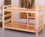 【尚品傢俱】K-GF-E06 松木實木3.5尺房間上下舖床台雙層床