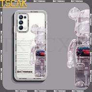 Square Casing For OPPO K9 A95 AA94 A93 A55 A53S Reno 5K 4 SE 5z 4 5 6 Pro F19 Pro Plus Phone Case Cartoon Bearbrick kaws Fashion Tid Brand Soft TPU Slim Transparent Clear Back Cover