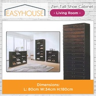 Zen Tall Shoe Cabinets | Living Room | Unique Design to Match dark or Zen styled room