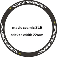 mavic cosmic SLE 公路輪組貼 22mm