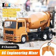 RC Mixer Truck Car Remote Control 2.4G Engineering Car Gift Toys Construction Mixer Vehicle Cars for Kids
