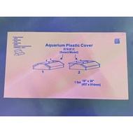 READY STOCK/MALAYSIA /AQUARIUM Aquarium tank plastic cover  2 side door ( 3 feet)