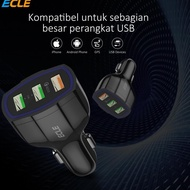 Terlaris ECLE Quick Charge Car Charger 3 Output 3.0 A ,,,,,