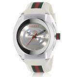 Gucci Sync XXL YA137102  Watch  Quartz Silver Dial Date Rubber