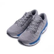 【居家運動 領券最高折450】MIZUNO WAVE SKY WAVEKNIT 4 SW 超寬楦慢跑鞋 灰藍 J1GC203938 男鞋