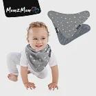 【Mum 2 Mum】雙面時尚造型口水巾圍兜-愛神箭/灰