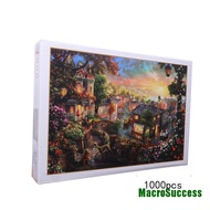 MacroSuccess 1000PCS Jigsaw Puzzles Educational Toy Scenery Quiet Town Adult Kid Puzzle FCF