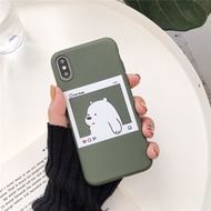 VIVO Y66 Y65 V5LITE V5LITE Y67 V5 Y71 Y71I  Y75 Y79 Photo Frame Bare Bear We Bare Bears Cute Cartoon Phone Case Soft Silicon For Phone  Phone Protection Accessories
