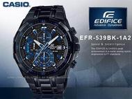 Casio Edifice EFR-539BK-1A2 ต่อหน้า Chronograph การจับเวลาปกตินาฬิกาสำหรับผู้ชาย/EFR-539BK-1A2