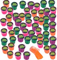 1.25 Inch Mini Fart Putty - Pack of 48 - Mini Noise Putty Slime from Playko - Neon Slime Putty - Mini Playdough for Kids - Slime Party Favors for Boys, Girls - Goodie Bag Fillers
