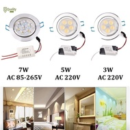 JM♣ Downlight 3W/5W/7W LED Recessed Ceiling Downlight Spotlight Wall Background Decor Light