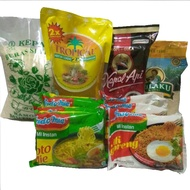 Paket Sembako Extra Hemat 1 - Beras, Minyak, Kopi, Gula, Mie