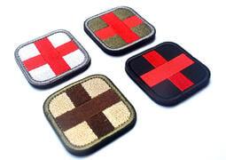 ◆新款◆十字架微章 戰術醫療徵章醫療救援背包章 刺繡魔術貼章臂章帽子貼