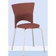 巧思餐椅(電鍍)(塑鋼耐衝擊)(咖啡)