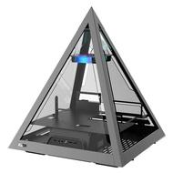 AZZA Innovative Tempered Glass ARGB PYRAMID 804  – Black