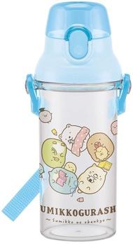 X射線【C446337】角落生物 Sumikko Gurashi 直飲式背帶兒童塑膠水壺480ml,彈蓋水瓶/隨身瓶/飲水壺/外出水壺/防漏/單手操作