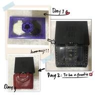 【屬於】Anna sui 專櫃正品中夾 愛心短夾 可放照片卡夾 Anna sui隨身鏡 山茶花鏡子