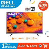 GELL 43 inch Smart TV LED TV FHD Youtube Wifi Android TV Free Bracket Multiports GELL43AD-ACE HDMI