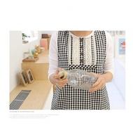 [Mamae] ~新品~出口韓國蕾絲小格子背心式圍裙 簡約風格 廚房工作服 成人圍裙黑色格子