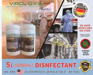 Sanitiser / 5L / 10L / 25L / Sanitizer / Made in Germany / VIROL-OXY / Anti Virus / Disinfection Sanitizing Spray Channel System / Sanitizer / EN USA certificates / Restaurant Restoran Office Factory School Car Outlet can use / Skin Hand Care / VIROL OXY