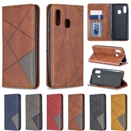 Retro Case Samsung Galaxy A50 Prismatic Leather Flip for Sam