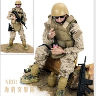 1 / 6 soldier toy doll joint movable soldier special forces model 4D gun model seal