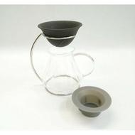 ~✬啡苑雅號✬~LOCA咖啡陶瓷濾杯 1~2杯+金屬手沖架+Driver 巴洛克玻璃壺