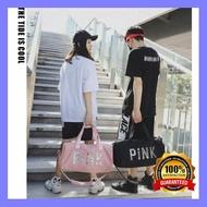 กระเป๋าเดินทาง กระเป๋าเดินทาง PiNK กระเป๋าฟิตเนส กระเป๋าใส่เสื้อผ้า ถือได้/สะพายได้ กระเป๋าสะพายเดินทาง