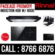 RINNAI INDUCTION HOB AND COOKER HOOD