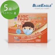 【藍鷹牌】立體型2-6歲幼童醫用口罩 50片x5盒(束帶式/藍色.綠色.粉色)