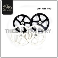 """20"""" PVC Sport Rim Bicycle Spare Part (2pcs)"""