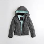 HCO Hollister 經典熱銷刺繡標誌舒適連帽風衣外套(女)-灰色