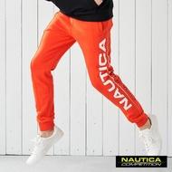 【NAUTICA】COMPETITION大LOGO運動長褲(橘色)