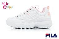 FILA DISRUPTOR 2 鋸齒鞋 韓版 成人女款 復古老爹鞋 厚底運動鞋 D9936#白粉◆OSOME奧森鞋業