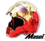 Masei公司貨美國 鋼鐵人安全帽 IRON MAN  逼  限量 多功能 全罩式 安全帽 下殺6折 電鍍