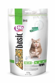 【LOLO 營養滿分 飼料 】歐洲波蘭LOLO 營養滿分倉鼠/兔子/天竺鼠主食飼料600g 倉鼠飼料
