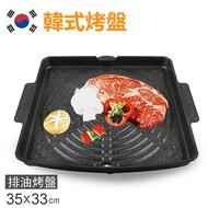 【韓國Suntouch】最新款韓式烤盤/不沾鍋烤盤/韓國烤盤/韓國烤肉(34X33cm)ST104P