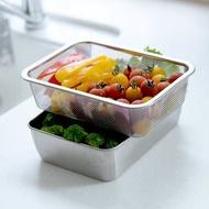 【Arnest】 日本製 不鏽鋼備料保鮮盒6件組 保鮮盒/濾網/附蓋 角型 長方型