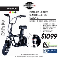 FIIDO Q1S Seated Scooter 36V 10AH ✔️UL2272 Certified ✔️LTA Compliant