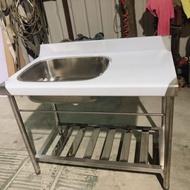 全新 100公分 水槽 深19 左水槽 不鏽鋼水槽 洗手台
