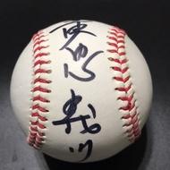 中華職棒 興農牛 黃忠義 親筆簽名球 興農牛練習用球